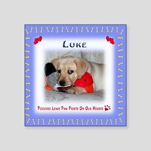 "Personalized Critter Charac Square Sticker 3"" x 3"""