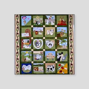 "2012 Hav A Heart Quilt Square Sticker 3"" x 3"""