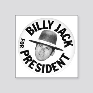BillyJackForPresident_collectors pin_white Sticker
