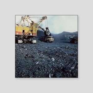 Open cast coal mining - Square Sticker 3
