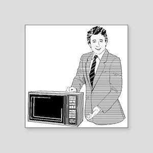 Microwave Salesman Sticker