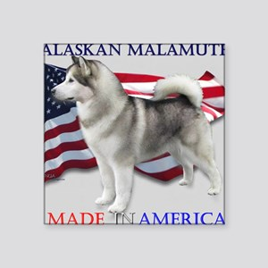 "Made in America Square Sticker 3"" x 3"""