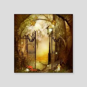 "Fairy Woodlands 8 Square Sticker 3"" x 3"""