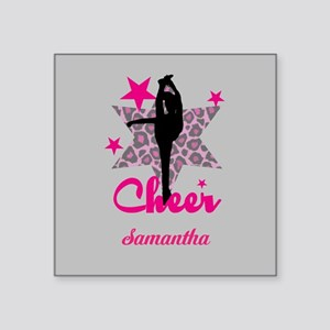 Pink Cheerleader Sticker