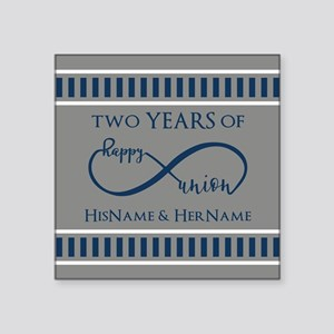 "2nd Anniversary Infinity Co Square Sticker 3"" x 3"""