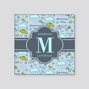 "Personalized Monogrammed Square Sticker 3"" x 3"""
