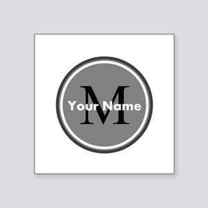 Custom Initial And Name Sticker