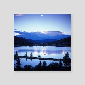"Mountain Lake Square Sticker 3"" x 3"""