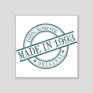 "Made in 1993 Square Sticker 3"" x 3"""
