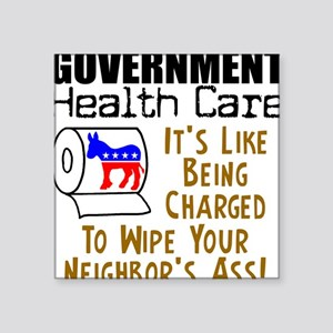 Government Health Care Square Sticker
