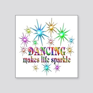 "Dancing Sparkles Square Sticker 3"" x 3"""