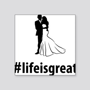 """Married-06-A Square Sticker 3"""" x 3"""""""