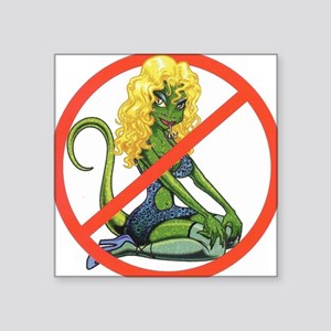 "No Lot Lizards Square Sticker 3"" x 3"""