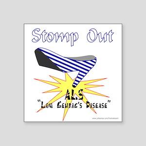 "ALS AWARENESS Square Sticker 3"" x 3"""