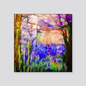 """Nature In Stained Glass Square Sticker 3"""" x 3"""""""