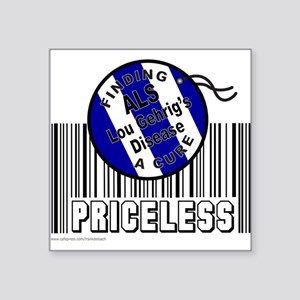 """LOU GEHRIG'S DISEASE Square Sticker 3"""" x 3"""""""