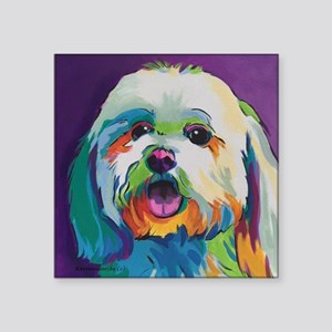 "Dash the Pop Art Dog Square Sticker 3"" x 3"""