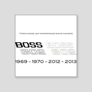 "Mustang Boss 302 Square Sticker 3"" x 3"""