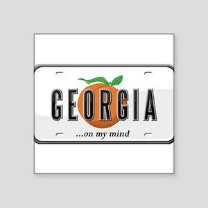 "Georgia Plate Square Sticker 3"" x 3"""