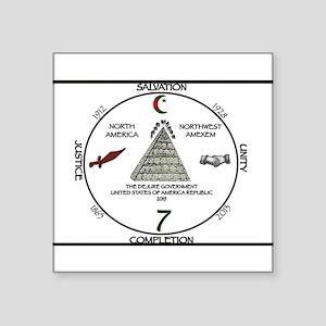 circle seven moor Sticker