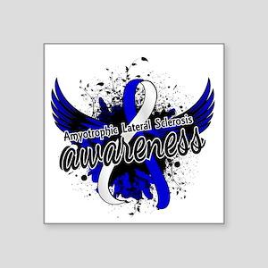 "ALS Awareness 16 Square Sticker 3"" x 3"""