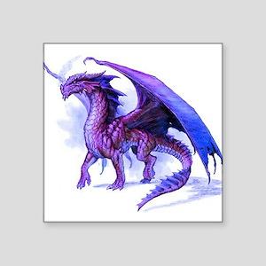 """Purple Dragon Square Sticker 3"""" x 3"""""""