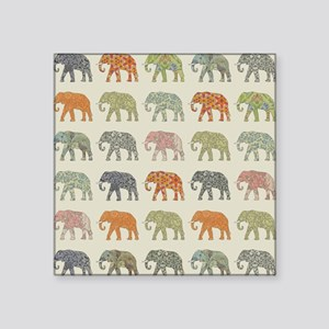 Elephant Colorful Repeating Pattern Decora Sticker