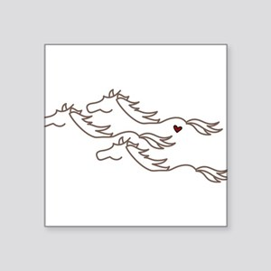 "Wild Horses Square Sticker 3"" x 3"""