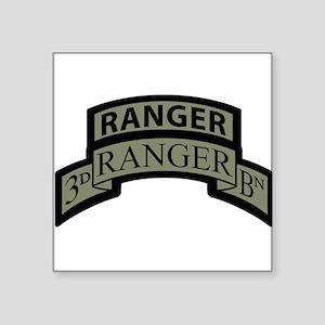 3rd Ranger Bn Scroll/Tab ACU Rectangle Sticker