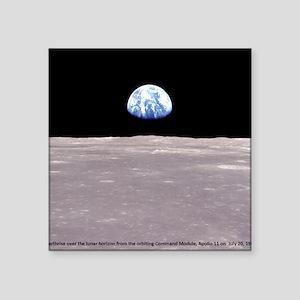 Earthrise on Moon Apollo 11 Sticker