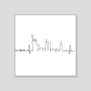 New York Heartbeat Letters Sticker