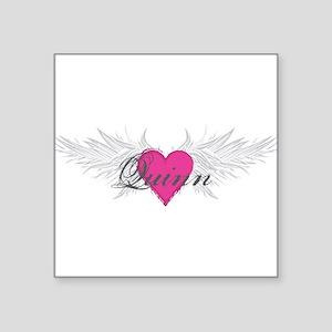 "Quinn-angel-wings Square Sticker 3"" x 3"""