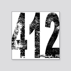 Pittsburgh Area Code 412 Sticker