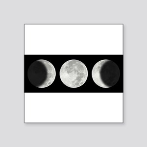 Three Phase Moon Oval Sticker