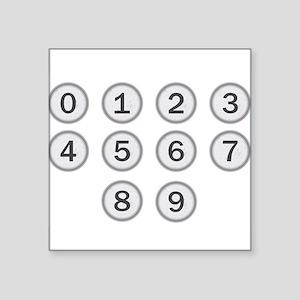Typewriter Keys Numbers Sticker