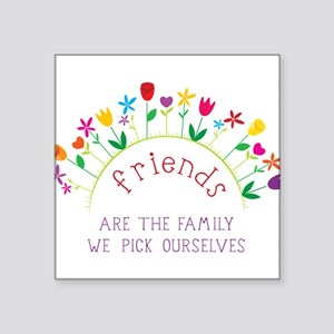"Friends Square Sticker 3"" x 3"""
