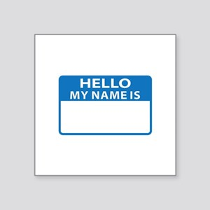 NAME DROP NAME TAG Sticker