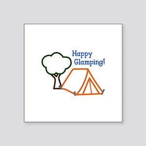 HAPPY GLAMPING APPLIQUE Sticker