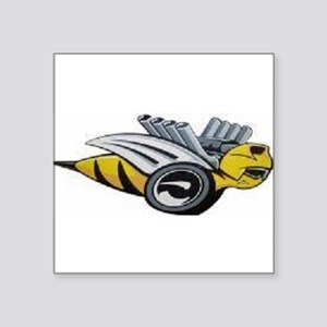 """Bumble Bee Square Sticker 3"""" x 3"""""""