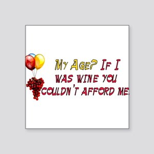 """fine_wine01 Square Sticker 3"""" x 3"""""""