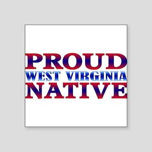 "West Virginia Native WV Square Sticker 3"" x 3"""