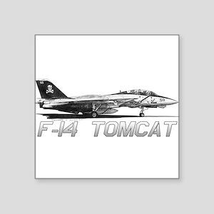 "F14 Tomcat Square Sticker 3"" x 3"""