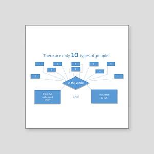 10 types of people...understand binary Sticker