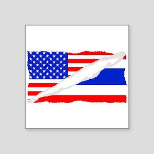 Thai American Flag Sticker