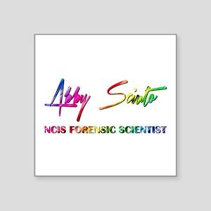 """ABBY SCIUTO SIGNATURE Square Sticker 3"""" x 3"""""""
