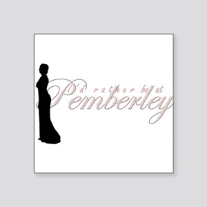 "pemberley Square Sticker 3"" x 3"""