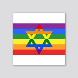 Rainbow Star of David Sticker