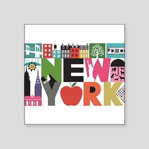 Unique New York - Block by Block Sticker