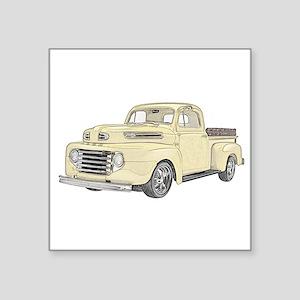 """1950 Ford F1 Square Sticker 3"""" x 3"""""""