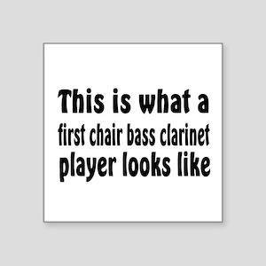 "Bass Clarinet Square Sticker 3"" x 3"""